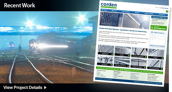 Web Design - Nottingham Corden Perimeter Systems
